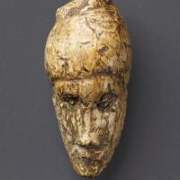 The oldest known portrait of a woman, sculpted from mammoth ivory found at Dolni Vestonice, Czech Republic. c.26,000 years old. Moravian Museum, Anthropos Institute