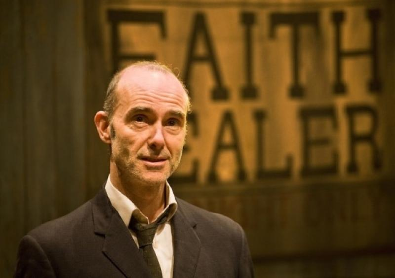 Finbar Lynch as 'the fantastic' Frank Hardy, Brian Friel's faith healer