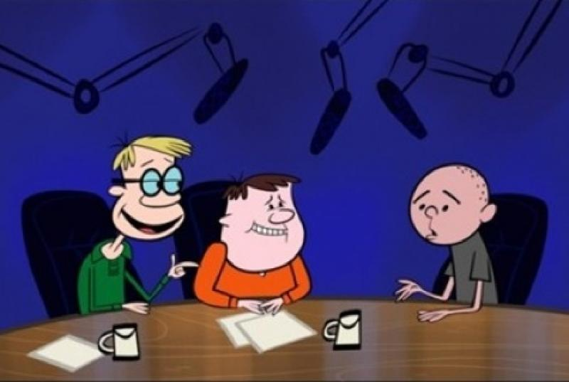 Round-table discussion: Stephen Merchant, Ricky Gervais and Karl Pilkington