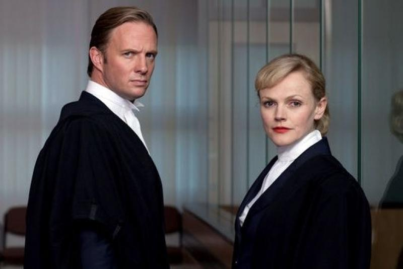 Spot the Harrovian: Rupert Penry-Jones and Maxine Peake play rival barristers in Silk