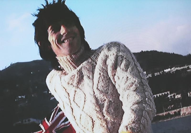 Keith Richards in an Aran Jumper