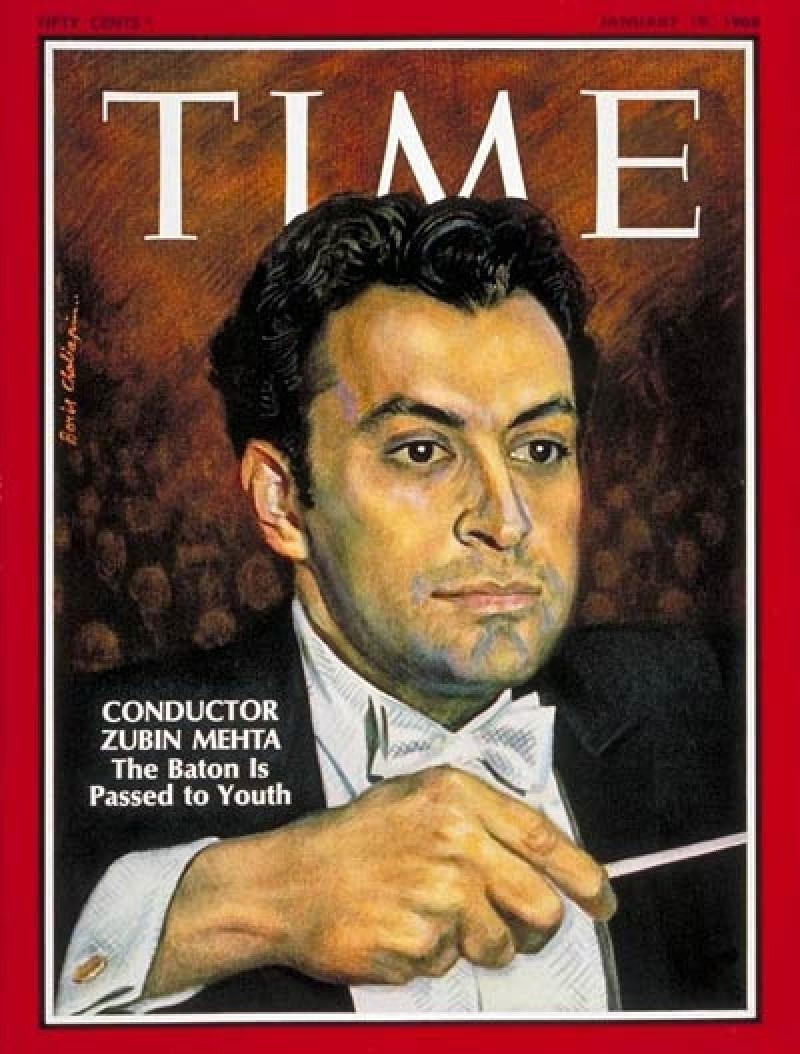 Conductor Zubin Mehta on the cover of Time in 1968