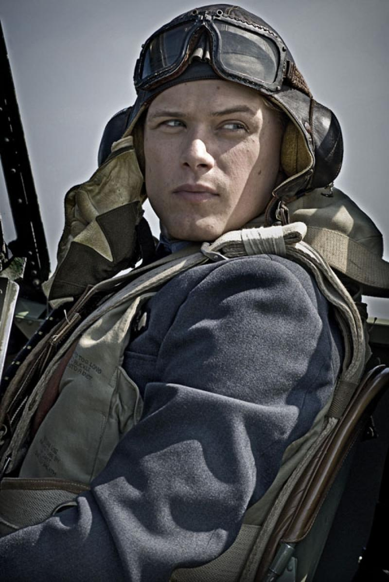 Reach for the sky: Sam Heughan as Geoffrey Wellum prepares to intercept Battle of Britain cliches