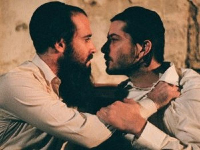 Sexy and dangerous: Zohar Shtrauss (left) and Ran Danker in 'Eyes Wide Open'