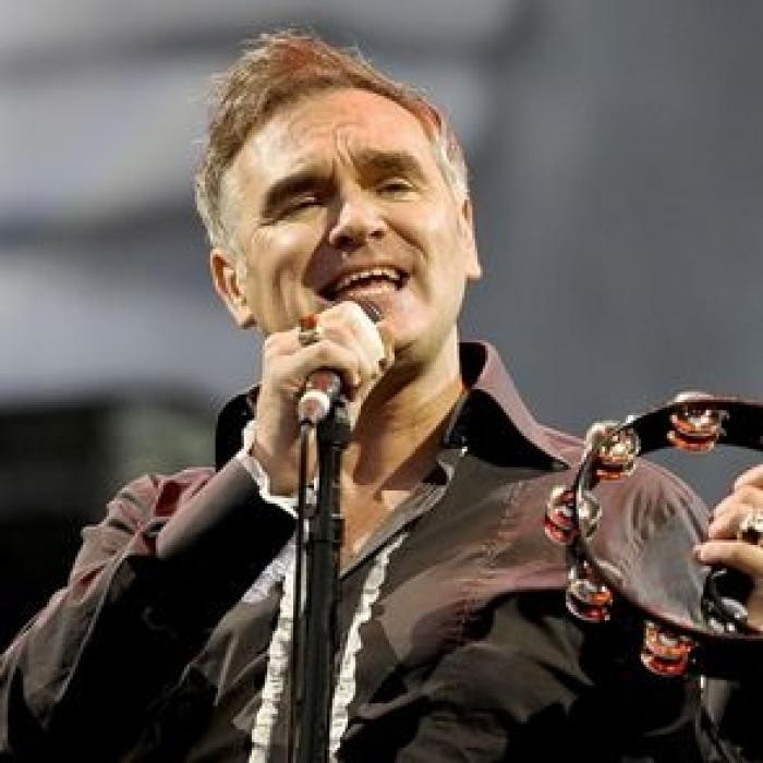 Morrissey: Mean, moody, magnificent and giving a pretty meaty performance from the committed vegetarian