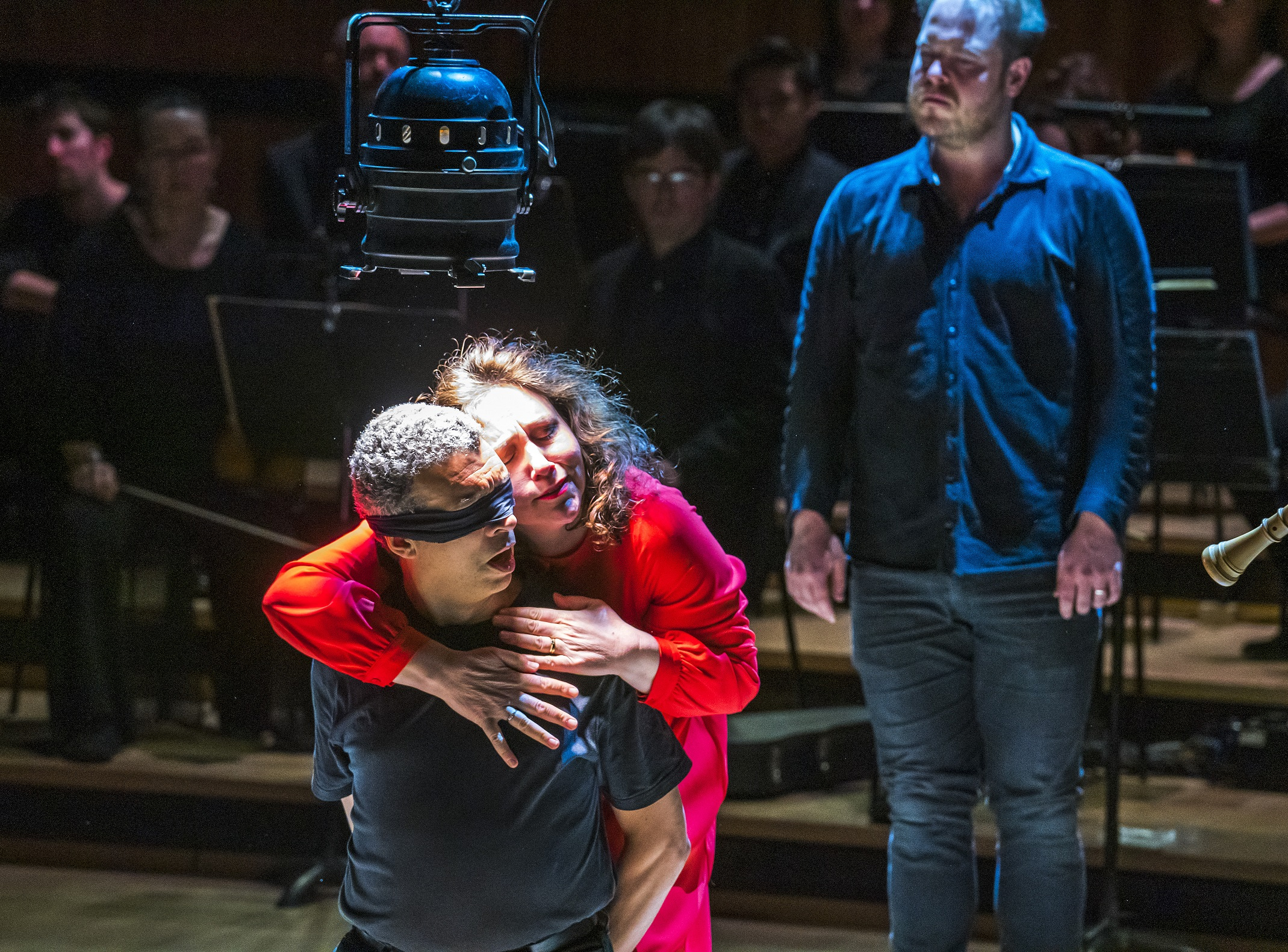 Roderick Williams and Christine Rice in Peter Sellars' staging of Bach's St John Passion