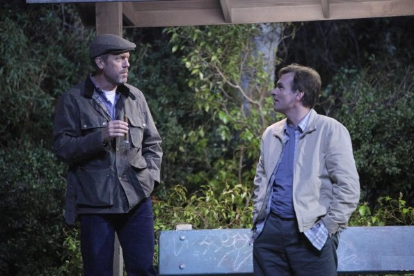 House (Hugh Laurie) and Wilson (Robert Sean Leonard)