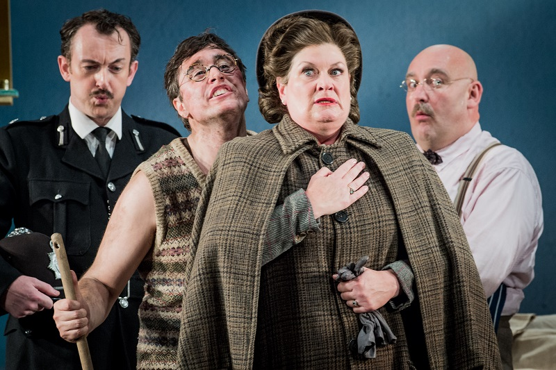 (L-R) John Molly, Bradley Smith, Yvonne Howard & Jeffrey Lloyd-Roberts in Albert Herring - photo by Robert Workman