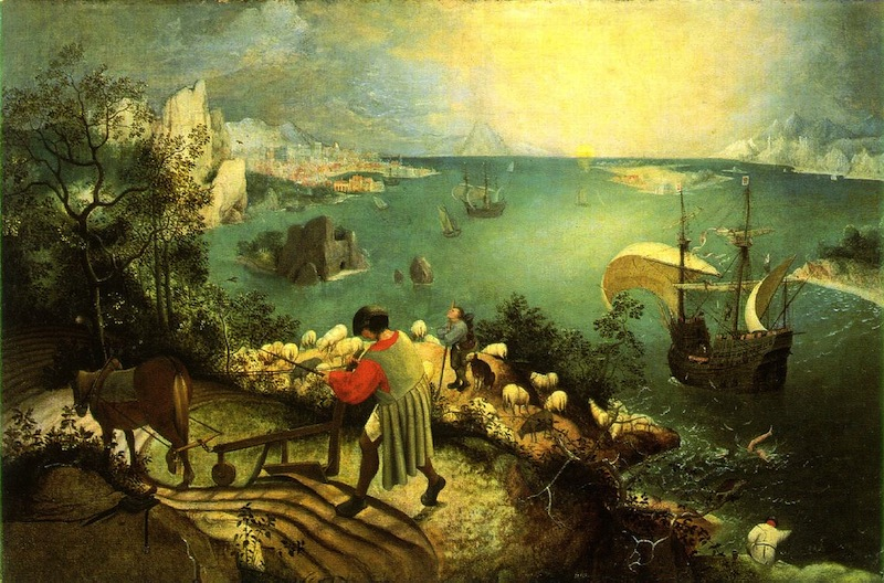 Pieter Bruegel the Elder, The Fall of Icarus, 1560s