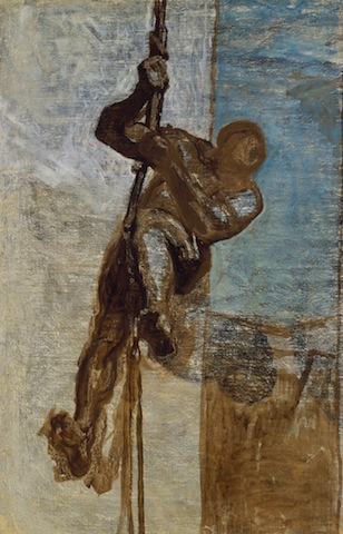 Honore Daumier, Man on a Rope, c. 1858, Museum of Fine Arts, Boston. Tompkins Collection