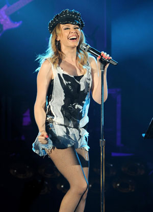 Kylie Minogue at the Hammersmith Apollo