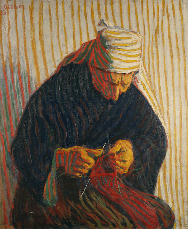 Roderic O'Conor, Breton Peasant Woman Knitting, Private  Collection, Image © Browse & Darby