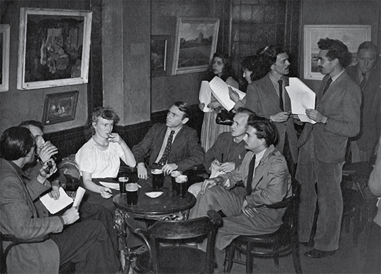 1948 photo by Gillian Ayres, the Walmer Castle pub nearby to Camberwell School of Art © Gillian Ayres