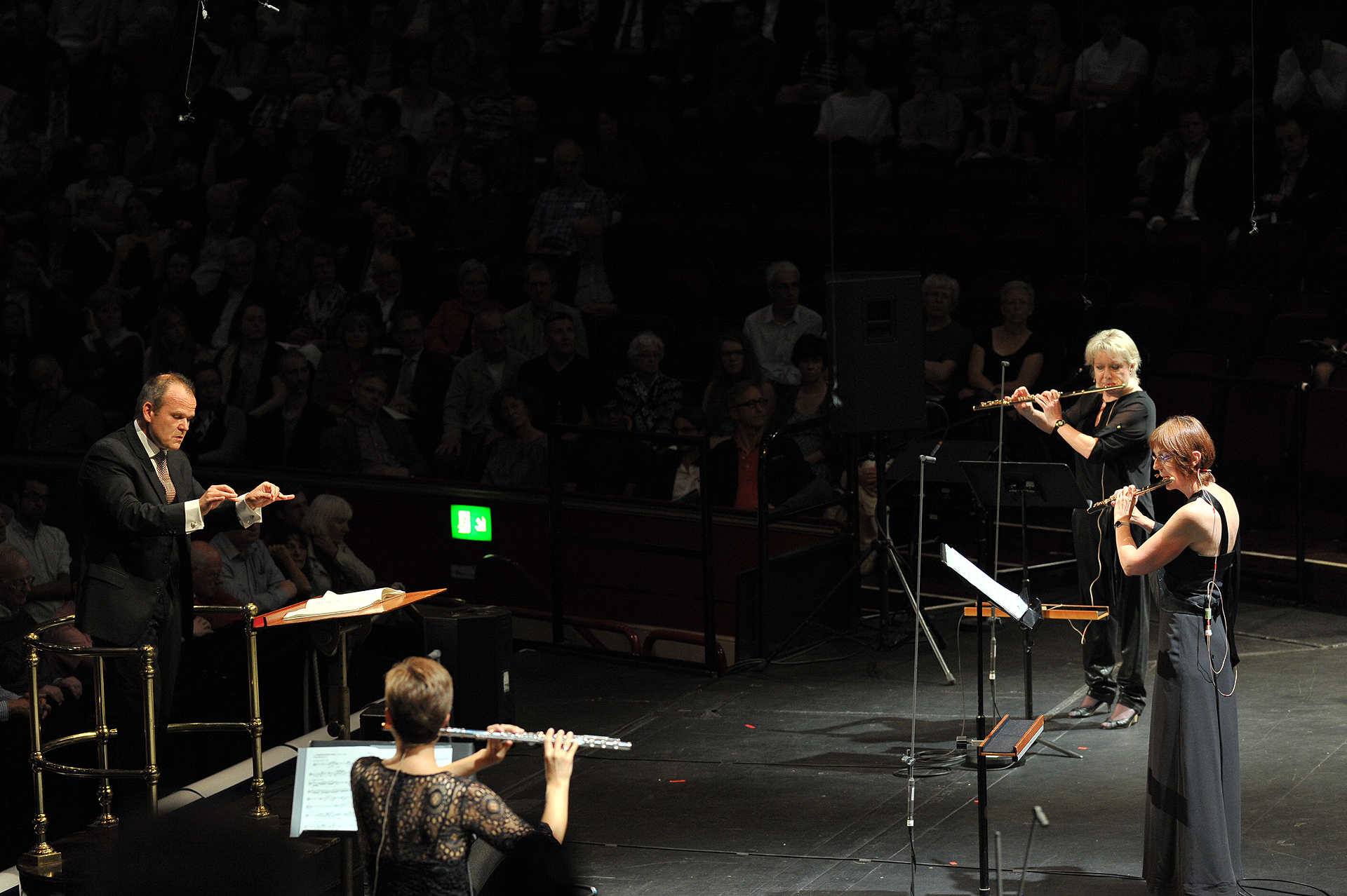 Sophie Cherrier, Dagmar Becker and Anne Romeis in a BBC Proms performance of ...explosante-fixe...