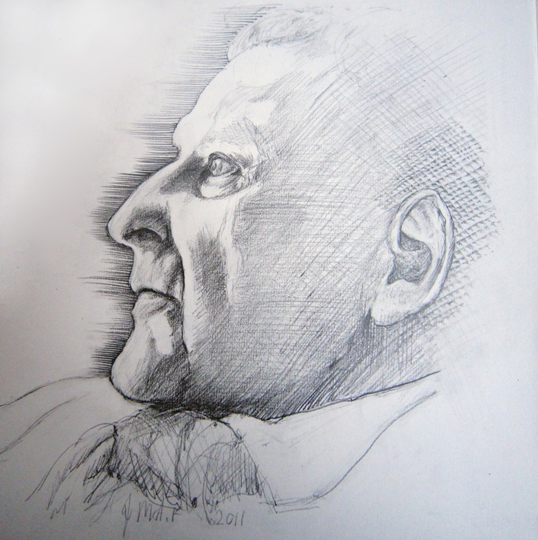 Lucian Freud sketch by Jane MaAdam Freud