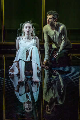 Lydia Wilson and Jack Riddiford as the Duchess and Antonio