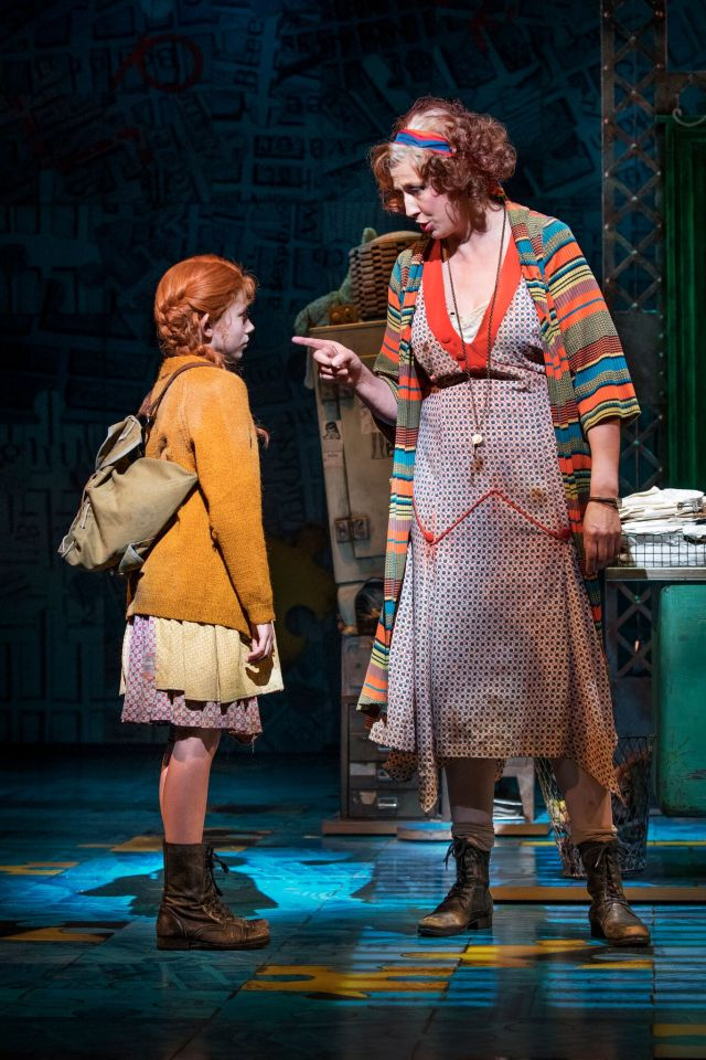 Ruby Stokes and Miranda Hart in `Annie'