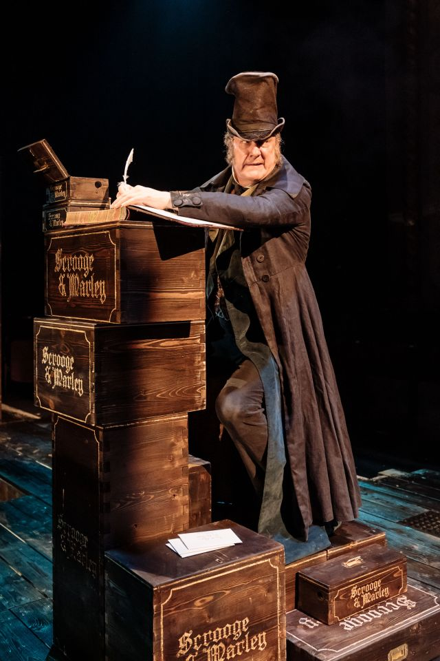 Stephen Tompkinson as Scrooge in 'A Christmas Carol'