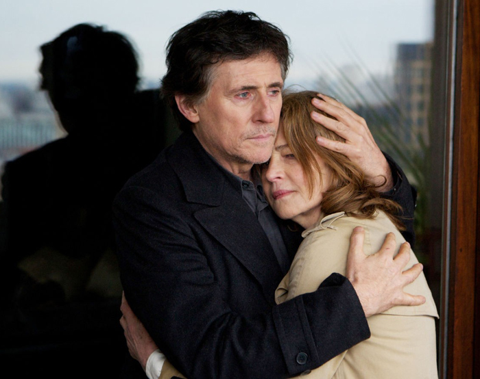 Chief detective Bernie (Gabriel Byrne) and Anna (Charlotte Rampling)