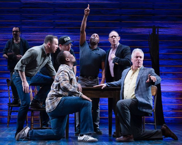Clive Carter (right) in 'Come From Away'