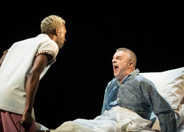 Nathan Stewart-Jarrett and Nathan Lane in 'Angels in America'