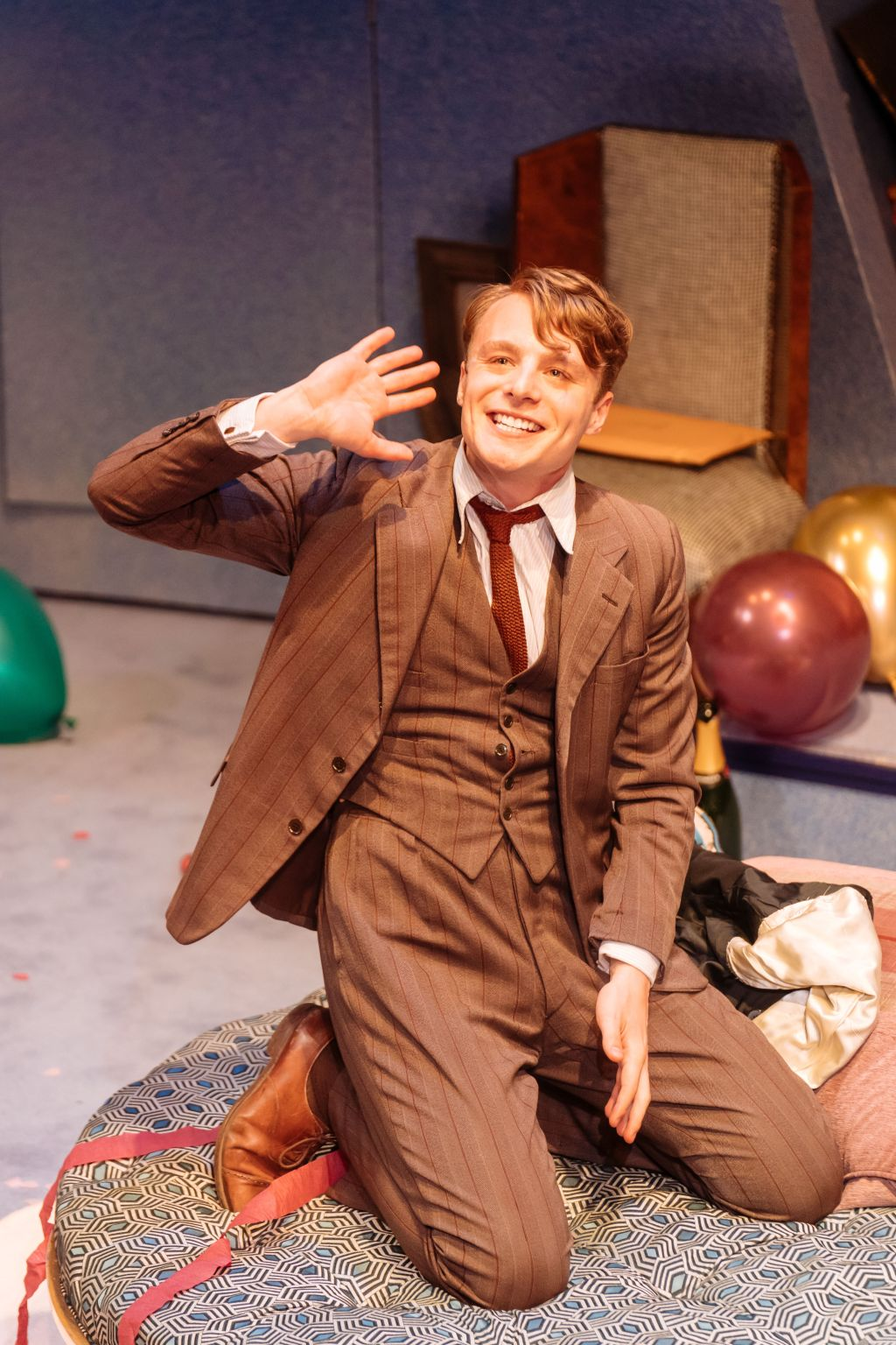 Luke Thallon as Roland Maule in 'Present Laughter'