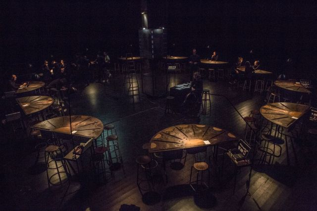 Nick Mattan's design for (LIES) at the Almeida