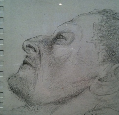 Lucian Freud sketch by Jane McAdam Freud