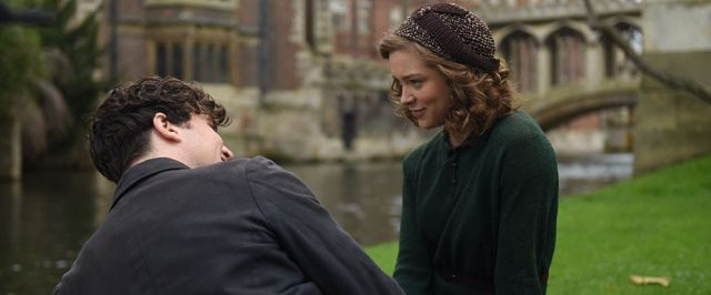Tom Hughes and Sophie Cookson in 'Red Joan'