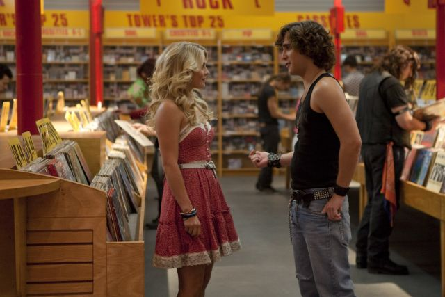 Hough and Boneta in Rock of Ages the film