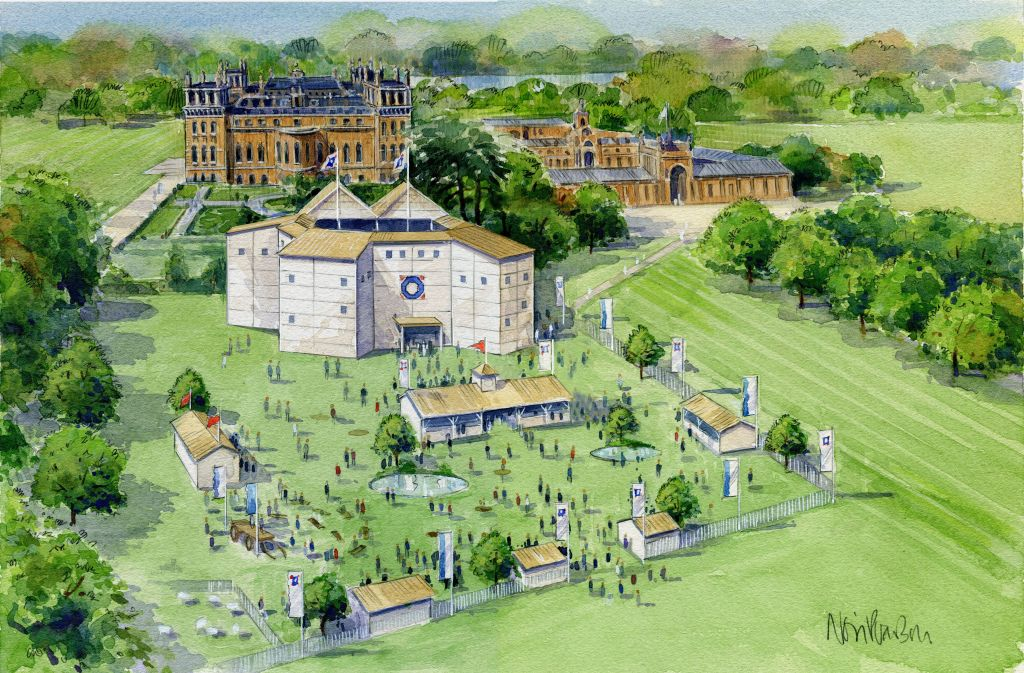 An artist's impression of Shakespeare's Rose at Blenheim