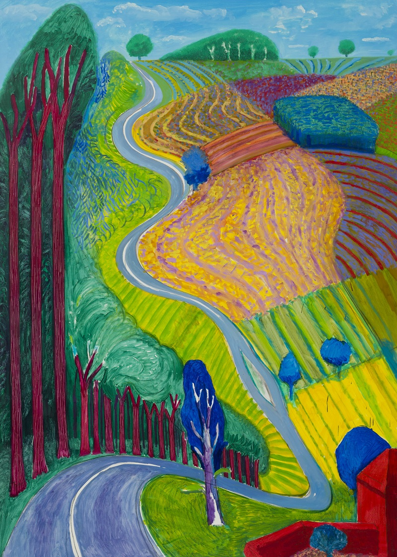 Going up Garrowby Hill, Hockney