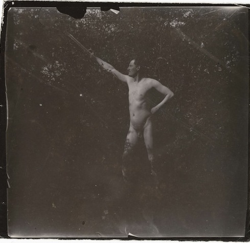 Self-Portrait Naked in the Garden at Asgardstrand, 1904