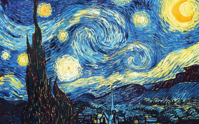 Van Gogh, The Starry Night, 1889, Museum of Modern Art, New York