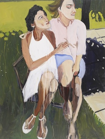 Chantal Joffe, Anne Sexton with Joy, 2008; courtesty the artist and Victoria Miro