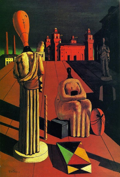 Giorgio de Chirico, The Disquieting Muses, 1918, Private collection