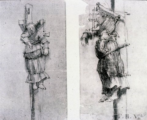 Rembrandt, Elsje Christiaens hanging on the Gibbet; The Metropolitan Museum of Art