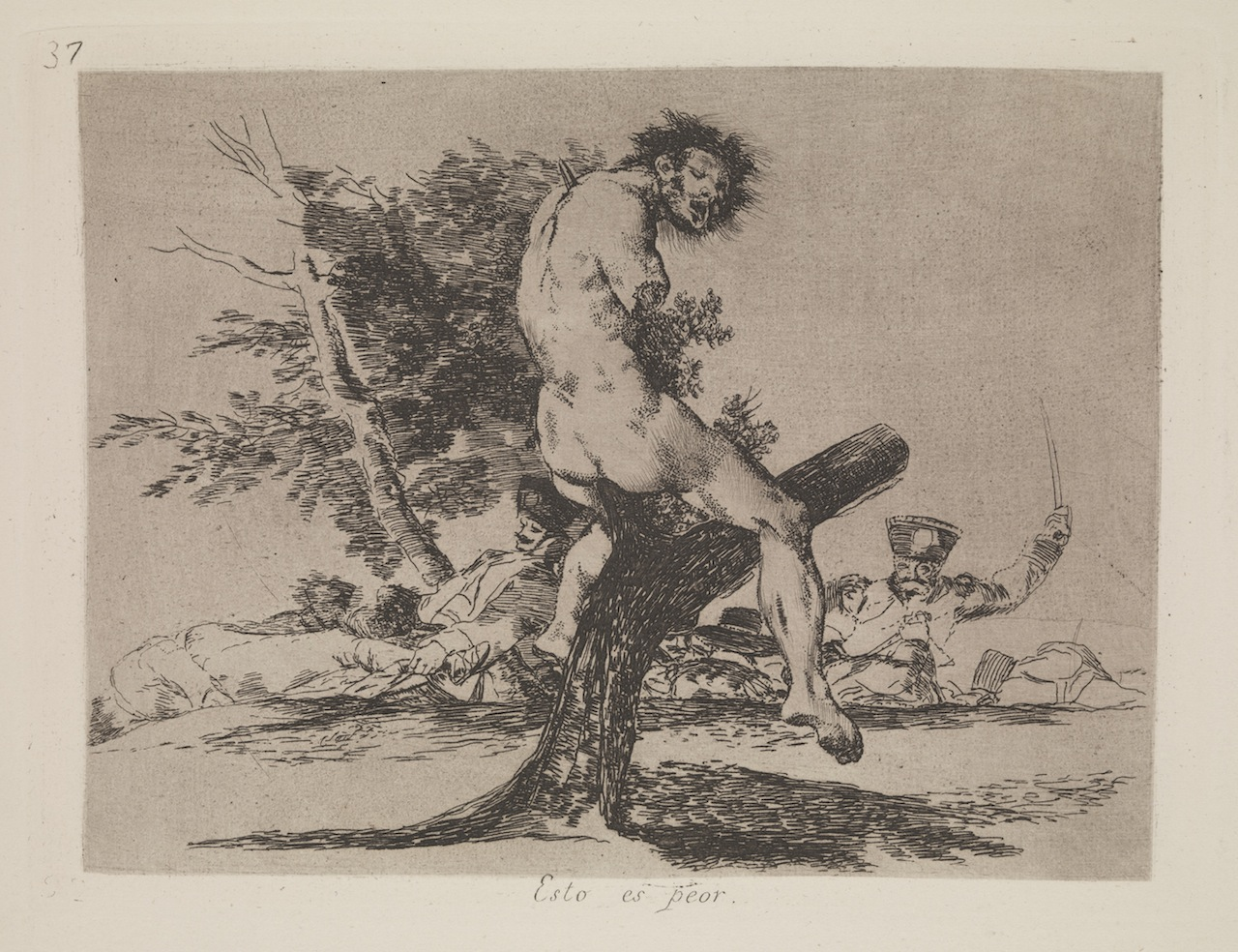 Francisco Goya, from Disasters of War, 1810-20