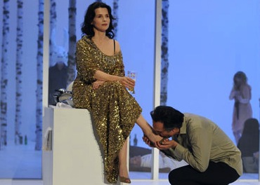 Juliette Binoche and Nicolas Bouchaud