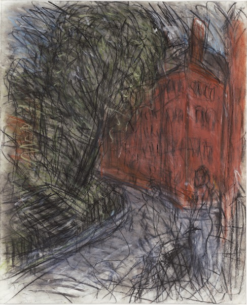 Leon Kossoff, Arnold Circus, 2008-10 (charcoal and pastel on paper)