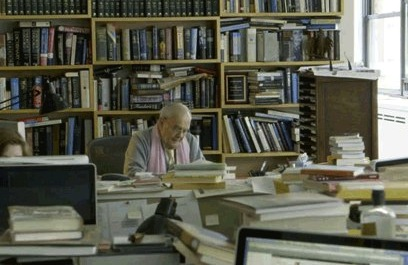 Robert Silvers in his NYRB office