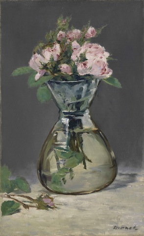 Manet, Moss Roses in a Vases, 1882