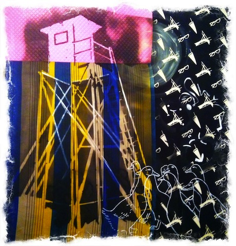 Sigmar Polke, The Watchtower with Geese, 1987-88. Art Institute Chicago