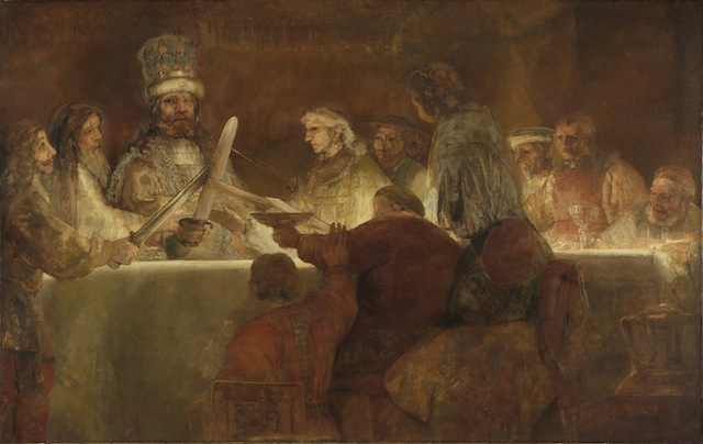 Rembrandt, The Conspiracy of the Batavians under Claudius Civilis, about 1661; Staatliche Graphische Sammlung München