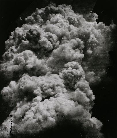 Toshio Fukada, The Mushroom Cloud - Less than 20 minutes after the explosion, 1945; Tokyo Metropolitan Museum of Photography