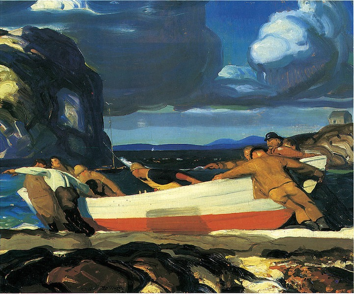 George Bellows, The Big Dory, 1913 © New Britain Museum of American Art