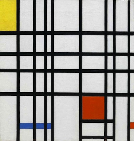 Piet Mondrian, Composition with Yellow, Blue and Red, 1937-42