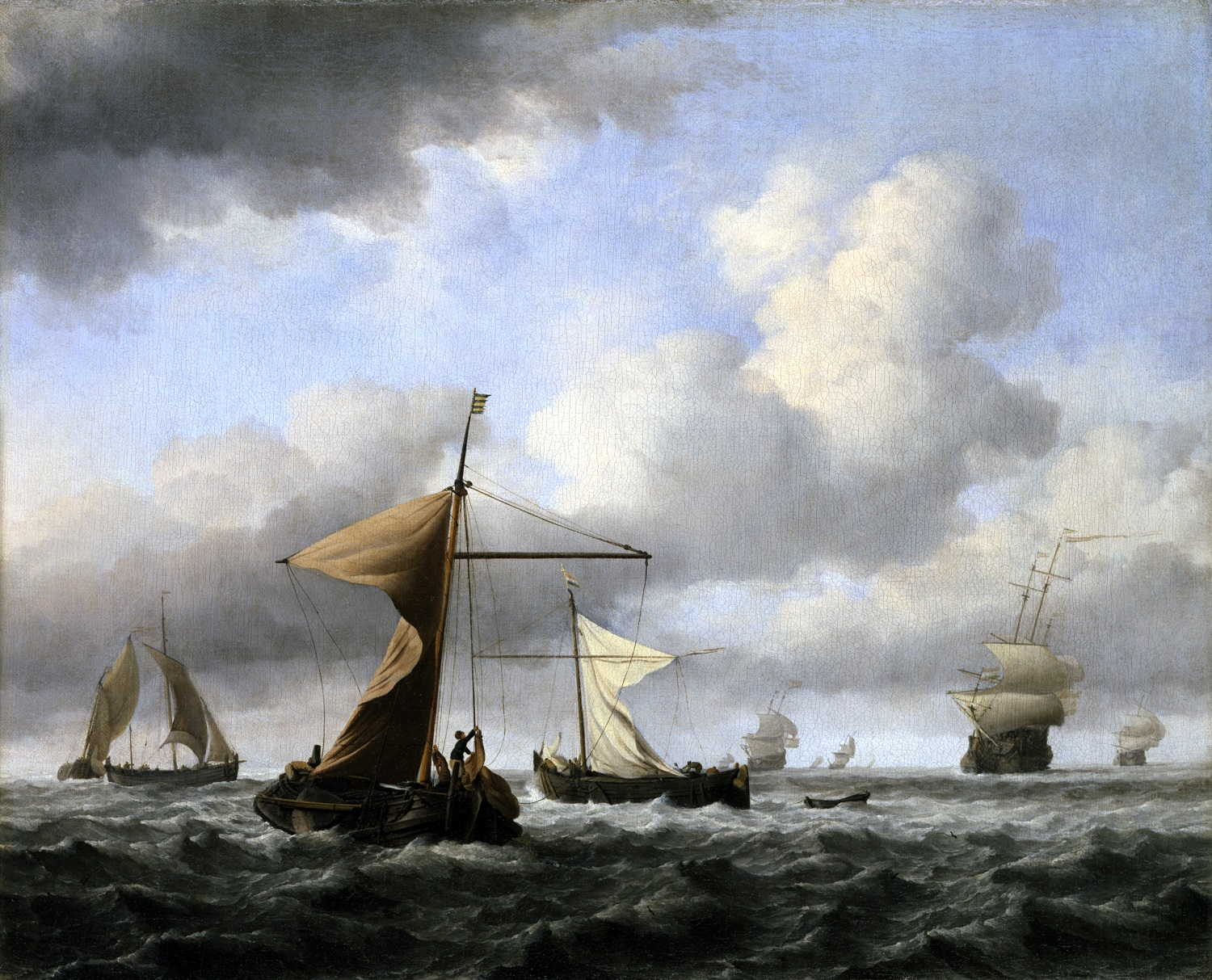 Willem van de Velde II, 'A Brisk Breeze', c.1665, Dulwich Picture Gallery