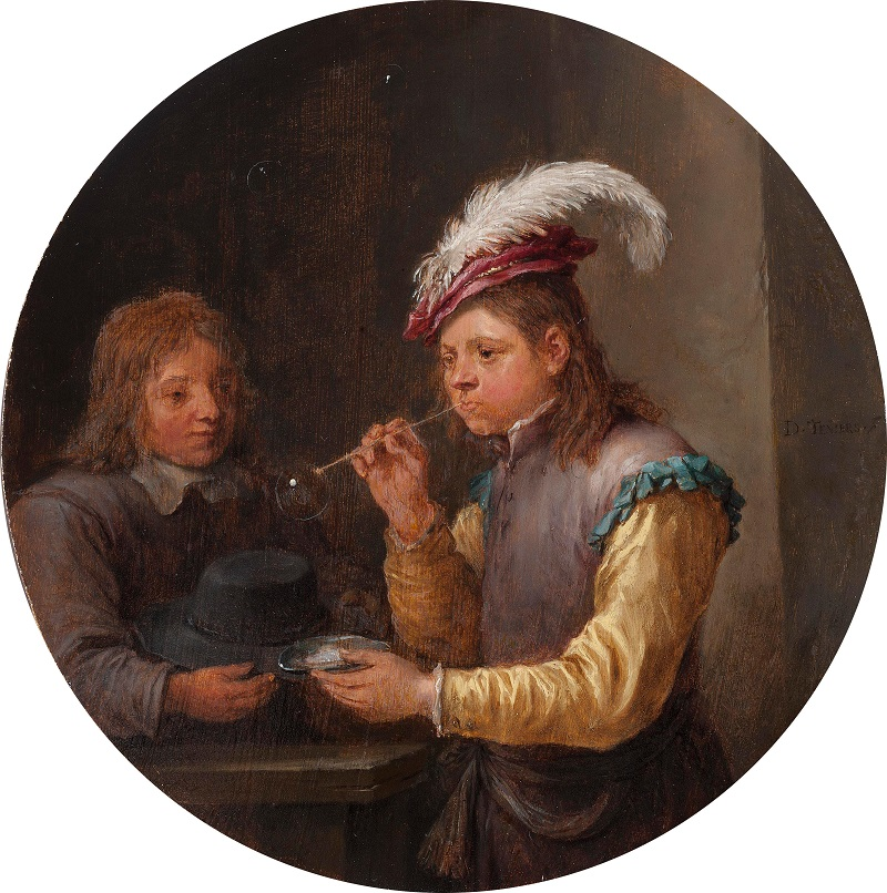 David Teniers the Younger, Boy Blowing Bubbles, c.1640,  Oil on panel, © Holburne Museum