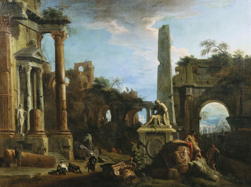 Marco Ricci, Caprice View with Roman Ruins,c.1729 Royal Collection Trust/(c)Her Majesty Queen Elizabeth II 2016